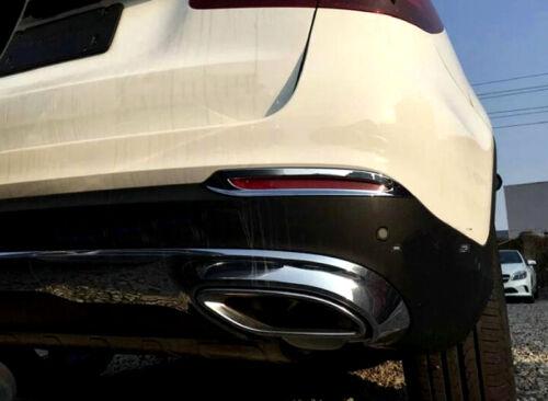 Rear Fog Lamp Fog Light Cover Trim 2pcs for Mercedes Benz GLC Class X253 15-19