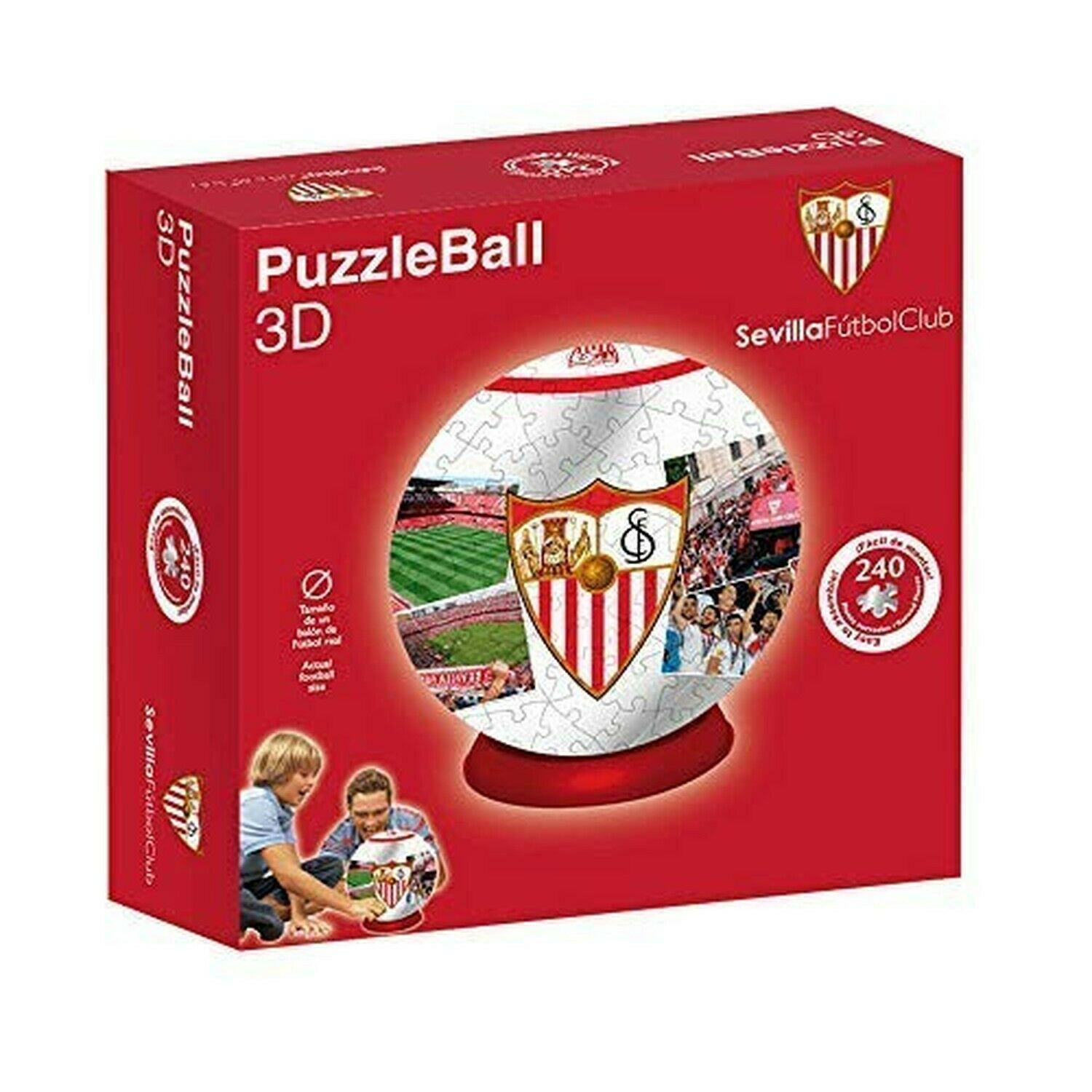 ELEVEN FORCE Real Betis PuzzleBall Sevilla FC, rot (240 Curved Pieces)