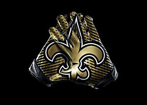 a4dc7fc4d New Orleans Saints Gloves 36x24 Matte Poster Wall Art Or Buy 2 for ...