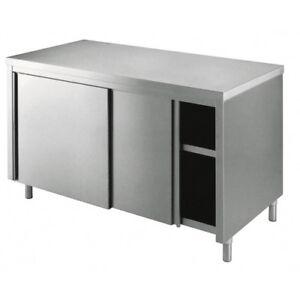 Mesa-de-220x90x85-de-acero-inoxidable-304-armadiato-cocina-restaurante-pizzeria