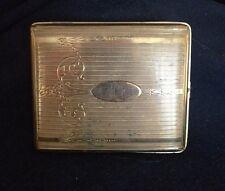 Vintage Art Deco Brass Cigarette Case Signed Evans