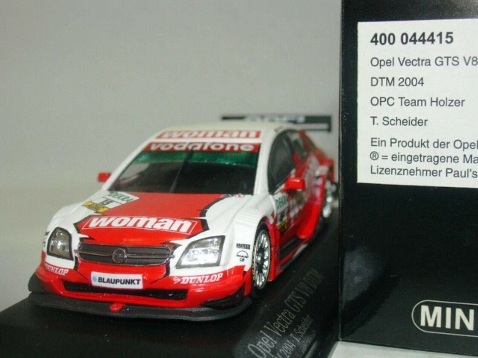Wow extremadonnate raro Opel Vectra V8 2004 Scheider Hocken DTM 1 43 Minichamps