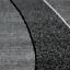 Kurzflor-Teppich-Wohnzimmer-Grau-Schwarz-Weiss-Gestreift-Wellen-Meliert-NEU Indexbild 2