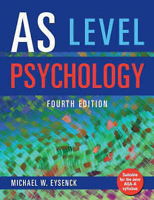 1 of 1 - AS Level Psychology-ExLibrary