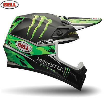 Monster Energy Bell Motorcycle Motocross Helmet MX-9 Circuit Camo Extra Large XL