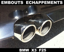 BMW X3 F25 2010 -2015 71mm EMBOUTS ECHAPPEMENTS CHROME TUBE TUYAUX SILENCIEUX
