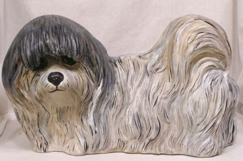 Vintage Pekingese Ceramic Dog Figure Large 1986