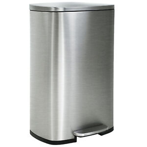 Details about Kitchen Trash Can With Lid For Office Bedroom Step Trash Bin  13 Gallon/50 Liter