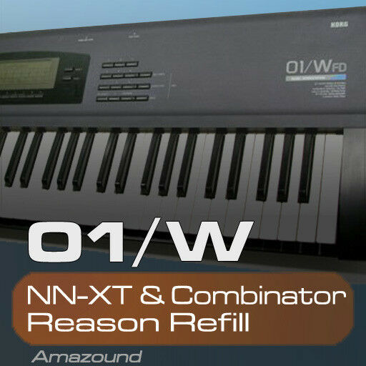 KORG 01W REASON REFILL 200 NNXT & COMBINATOR 2607 SAMPLES 2GB 24BIT MAC PC