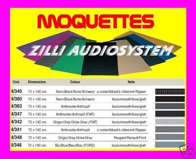 Moquette acustica NERA a coste 70x140 cm By PHONOCAR 04340