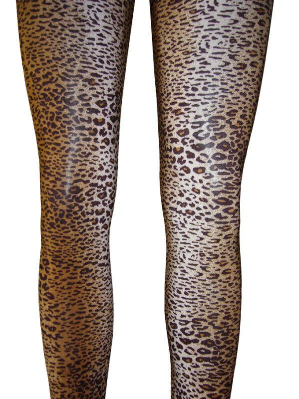 Leggins TIGER LEOPARD LOOK Leggings Capri Hose Stretch Bund S M L XL