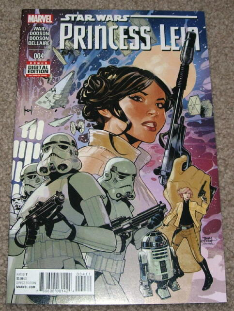 STAR WARS  PRINCESS LEIA #1 ACTION FIGURE VARIANT 1:15 MARVEL COMICS NM