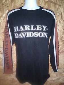 Harley Davidson 105th Anniversary Mens Shirt Size L Black Short Sleeve USA RARE