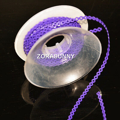 1 Pc New Dental Orthodontic Spool Elastic Rubber Band Power Chain Purple Short