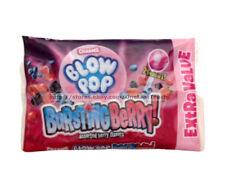 CHARMS^ 5.2-5.85 oz Bag BURSTING BERRY Bubble Gum Filled LOLLIPOP Candy BLOW POP