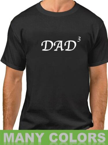 Dad Of 3 Shirt Best Dad T-Shirt Daddy x3 Fathers Day Pregnancy Announcement Gift