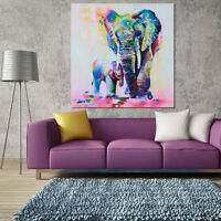 Fashion Art Oil Painting Abstract Wall Elephant Hand-Painted Home Room Decor DIY
