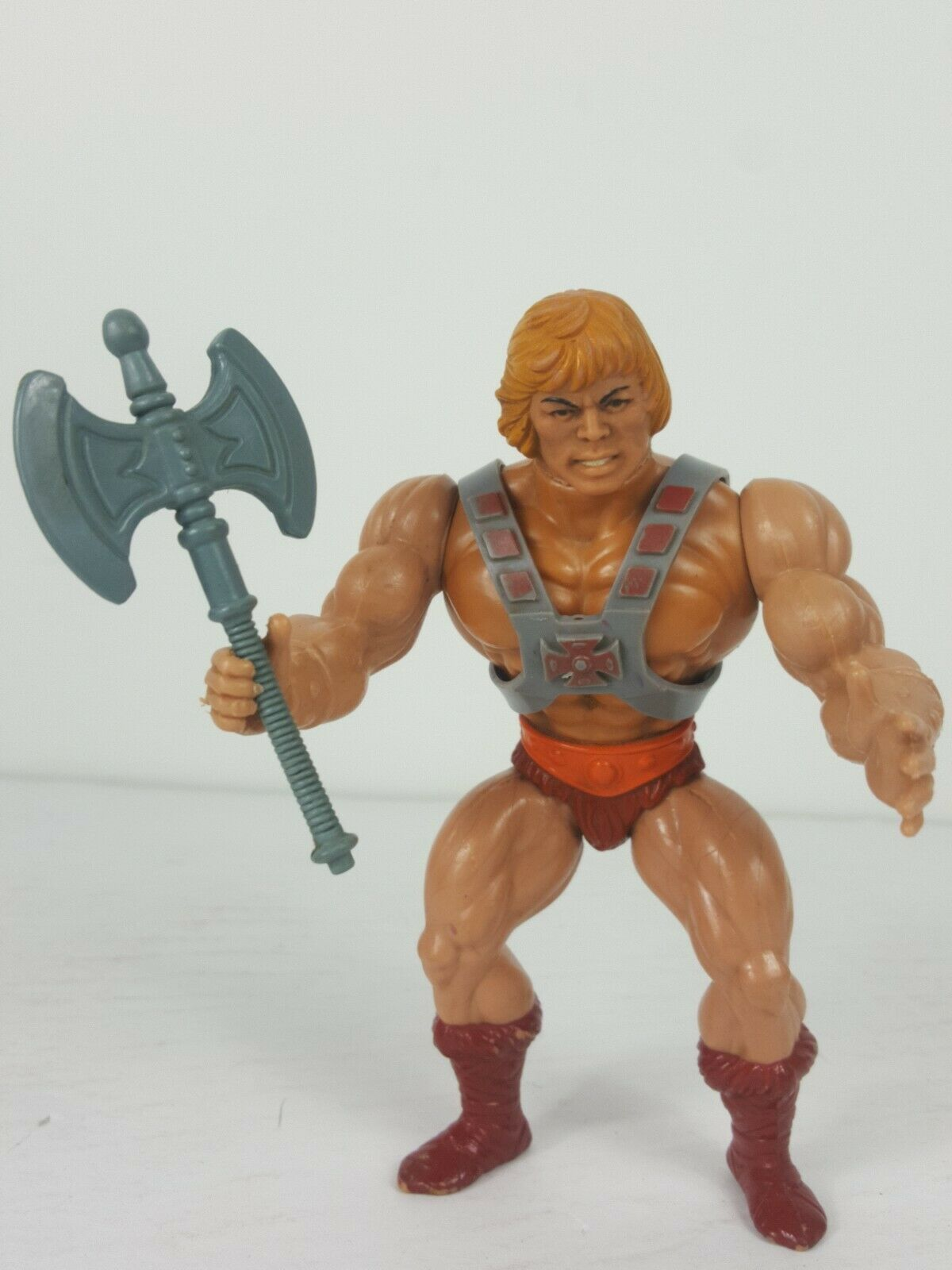 Masters of The Universe He-Man Original 1981 Action Figure Vintage Taiwan w  axe