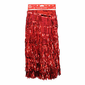 image is loading tallon christmas decoration angel hair lametta strands red