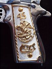 1911 Gun Grips Government 45 Colt 24K Gold Plated Cachas Free Screws Custom Made