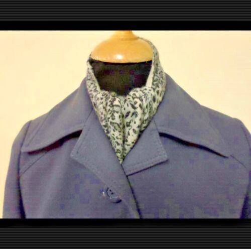 36 Coat Women Style 80's Kvinder Style 36 34 Gråblå Frakke 80's Blue Vintage Greyish Vintage 34 Rw1nq0U