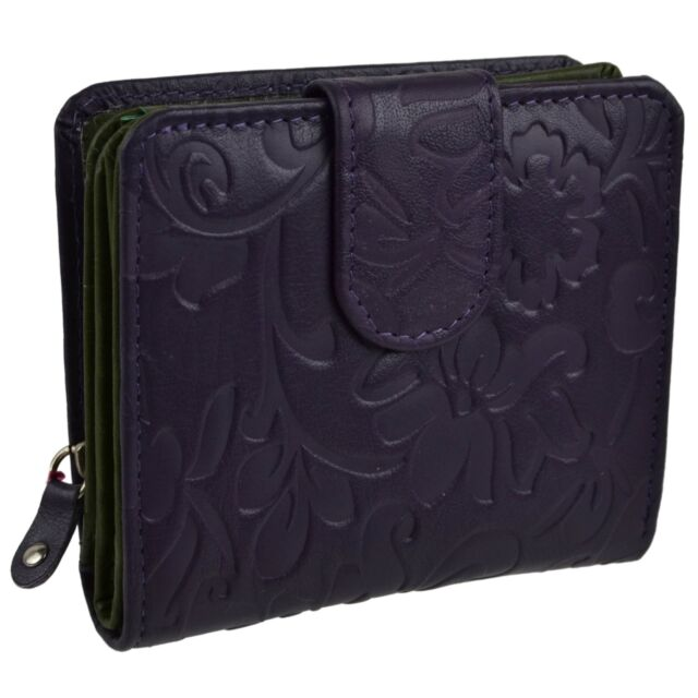 NEW Ladies Medium LEATHER Flap Over PURSE//WALLET by MALA Classic Collection Gift