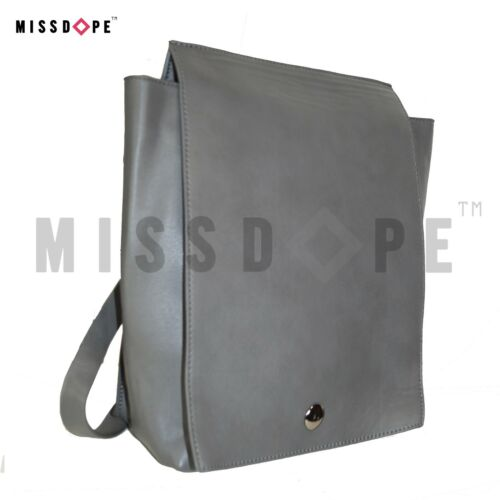 2575cce695ac1 Travel Rucksack Faux Bag New Womens Black Shoulder Grey Leather Flap  Backpack 8T0fqCw