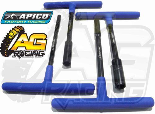 Apico Premium Black Blue T-Bar 4 Piece Set 6 8 10 12mm For Beta Trials EVO REV