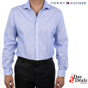 e4f46bd7b08257 Details about NEW TOMMY HILFIGER MENS NON IRON SLIM FIT STRIPE FASHION  DRESS SHIRT 24N0372