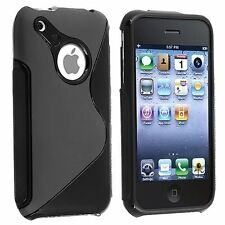 TPU Gel S-Shaped Case foriPhone 3G / 3GS - Black