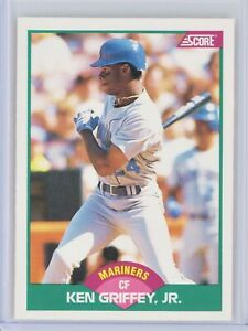 1989-Score-Rookie-Traded-100T-KEN-GRIFFEY-JR-Rookie-RC-Mariners-HOF