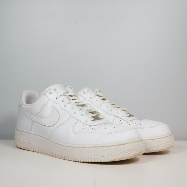 Nike Air Force One 1 AF-1 Low Cut Mens Size 12 Triple White Shoes 315122-111