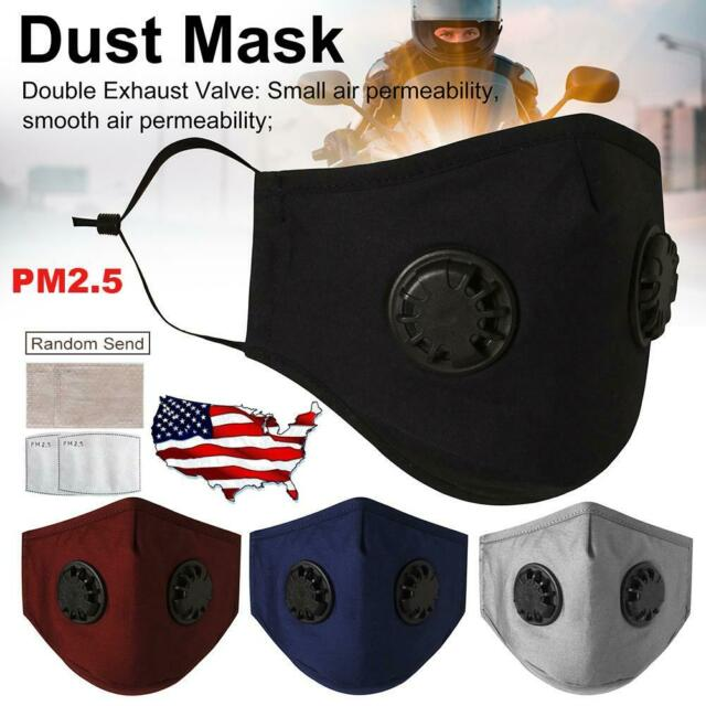 Outdoor Anti-dust Air Purifying Face Cover with 2x Filter High Quality /& Hot USA