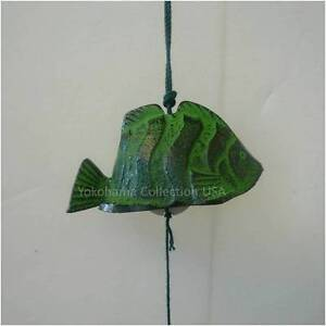 Japanese Tropical Fish FURIN Wind Chimes Cast Iron/Made in Japan