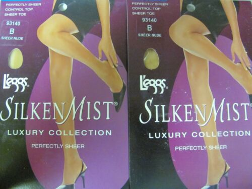 Leggs L/'eggs Silken Mist Luxury Collection pantyhose B Sheer Nude 93140 Lot of 3