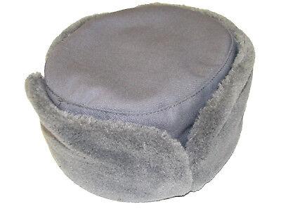 Genuine CZECH Army Issue Winter Grey Fur Olive Trapper Ushanka Hat NEW UNUSED