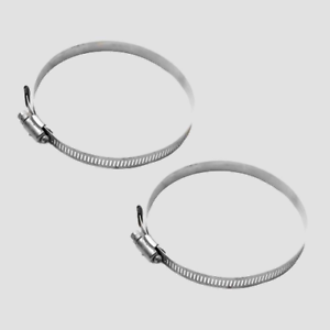 STAINLESS STEEL 1//2 x 5 in BOAT HOSE CLAMPS PAIR