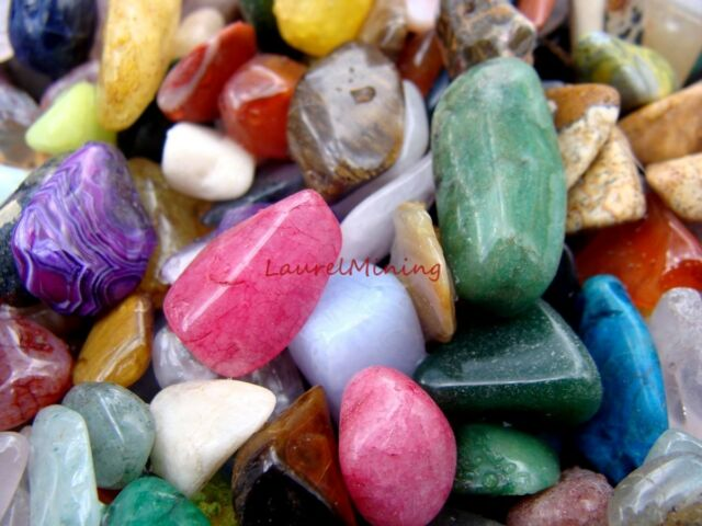 TUMBLED POLISHED GEMSTONE WORLDWIDE MIX  - Over 1000 Carats in Lot  75+ Gems