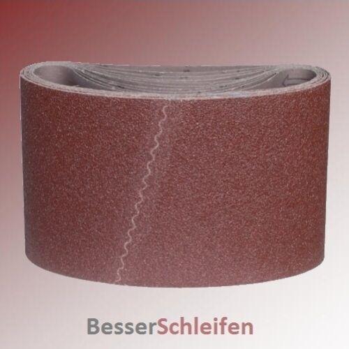 10 Schleifbänder Schleifband 200x551 mm Körnung P40 Schleifhülsen Gewebe Parkett