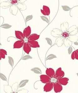 Arthouse Anouska Red Floral Wallpaper Wall Flower 871104 Ebay