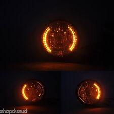 PHARE AVANT H4 + CLIGNOTANT A LED 35W NOIR MOTO HORNET HONDA TRIUMPH CAFE RACER