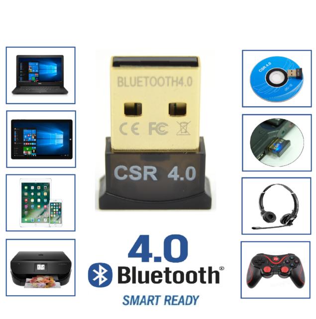 Mini Wireless USB Bluetooth V4.0 CSR Dongle Adapter for Windows 7 8 10 PC Laptop