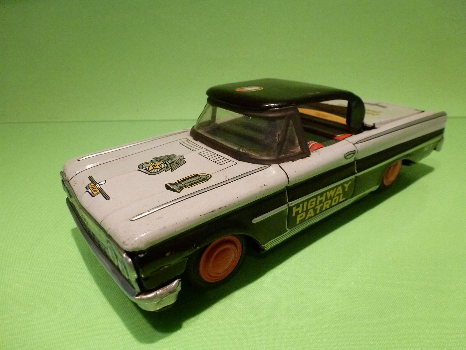 DAITO  HIGHWAY PATROL - MADE IN JAPAN- TIN TOYS BLECH  POLICE  - GOOD CONDITION