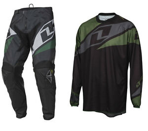 ONE INDUSTRIES ATOM MOTOCROSS MX KIT BLACK enduro bike pants jersey