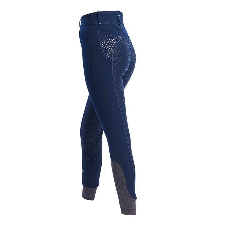 Just Togs Valentina Breeches Ladies, Full Silicone Seat with Bling Detail - SALE