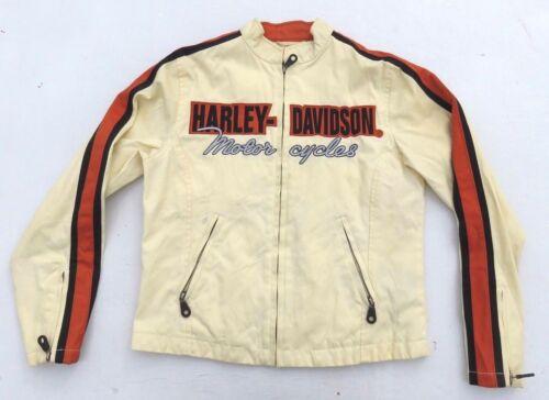 1f90cbd719247 kurtka Harley Haftowana motocyklowa Xs kurtka paskiem Cream wyłożona  Davidson Damska tdsrQh