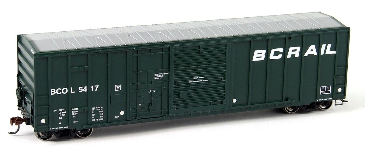 Athearn RTR 50' FMC Combo Door Box British Columbia BCR- 3 Car Bundle - HO