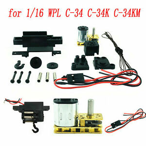 1-16-cabrestante-Haicom-para-WPL-c34-c34k-c34km-RC-coche-camion-car-Winch-negro