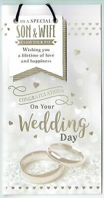 From The Thinking Of You Range Wedding Day Card - UKG553655 With A Foiled And Flittered Finish - Champagne