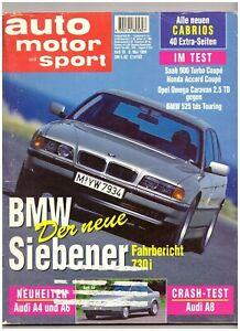 AUTO MOTOR SPORT 10/1994, 40 Seiten Extra: CABRIOS Cabrio - Bayern, Deutschland - AUTO MOTOR SPORT 10/1994, 40 Seiten Extra: CABRIOS Cabrio - Bayern, Deutschland